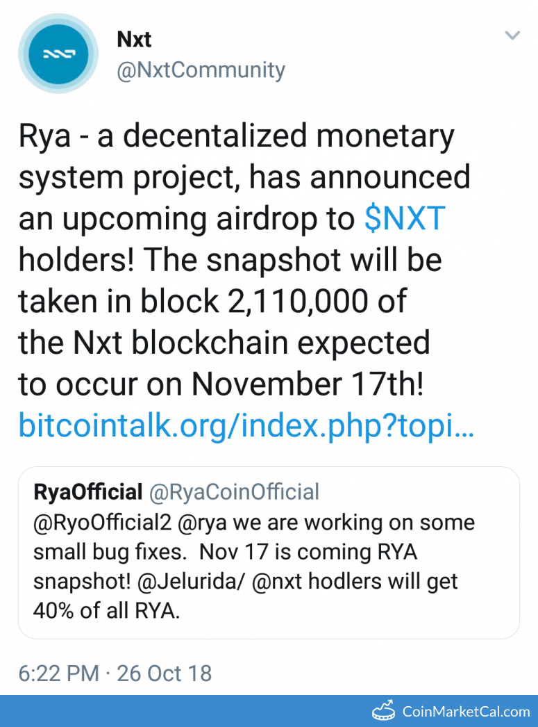 RYA Airdrop image