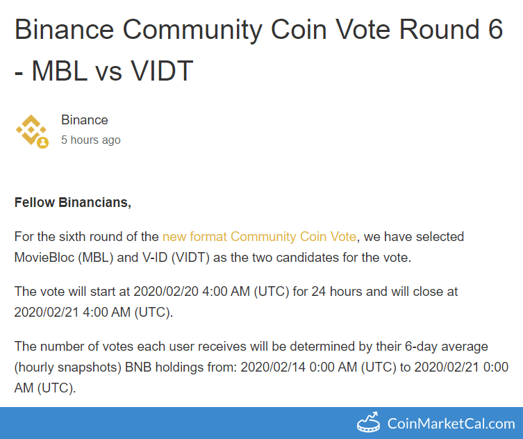 Binance Community Vote image