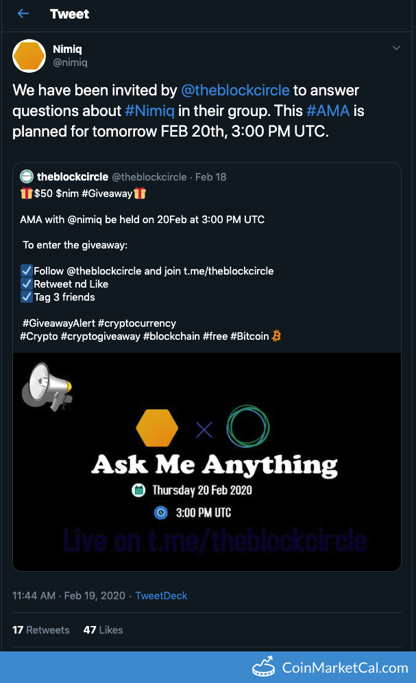 Telegram AMA image