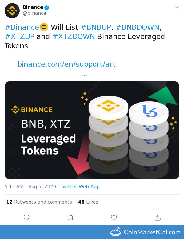 Binance UP/DOWN Listing image