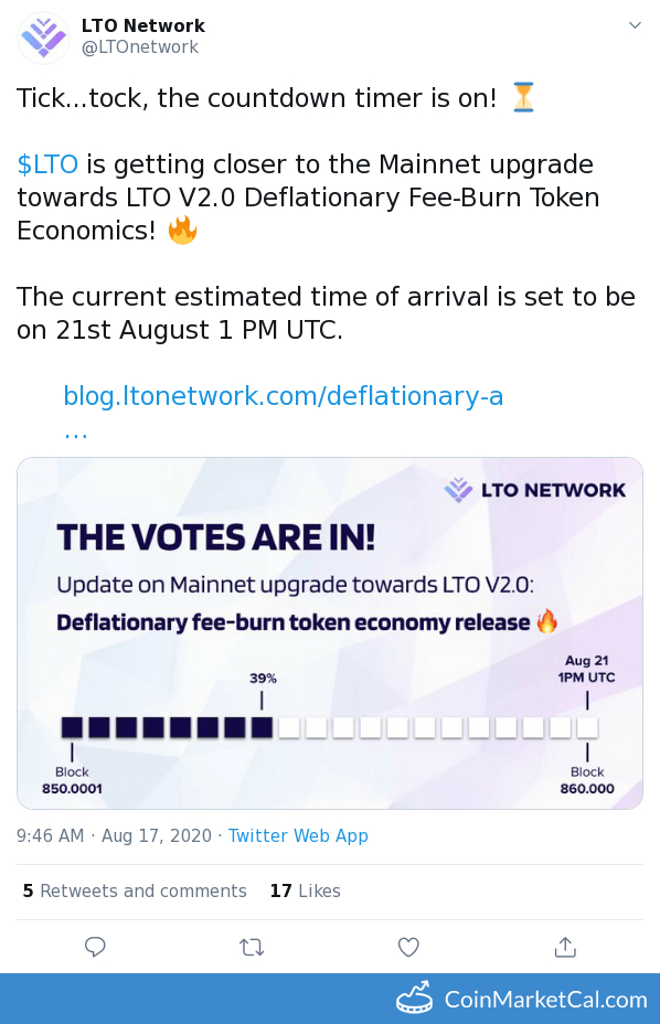 LTO V2.0 Mainnet Upgrade image