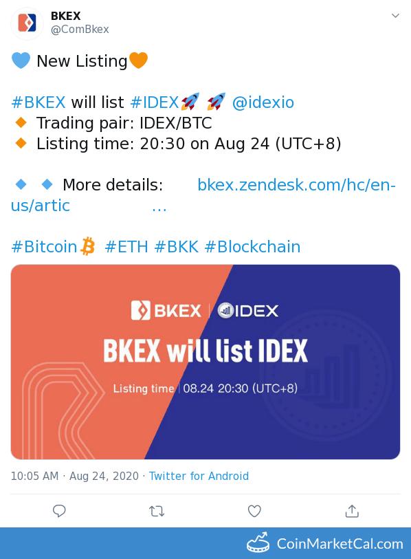 BKEX Listing image