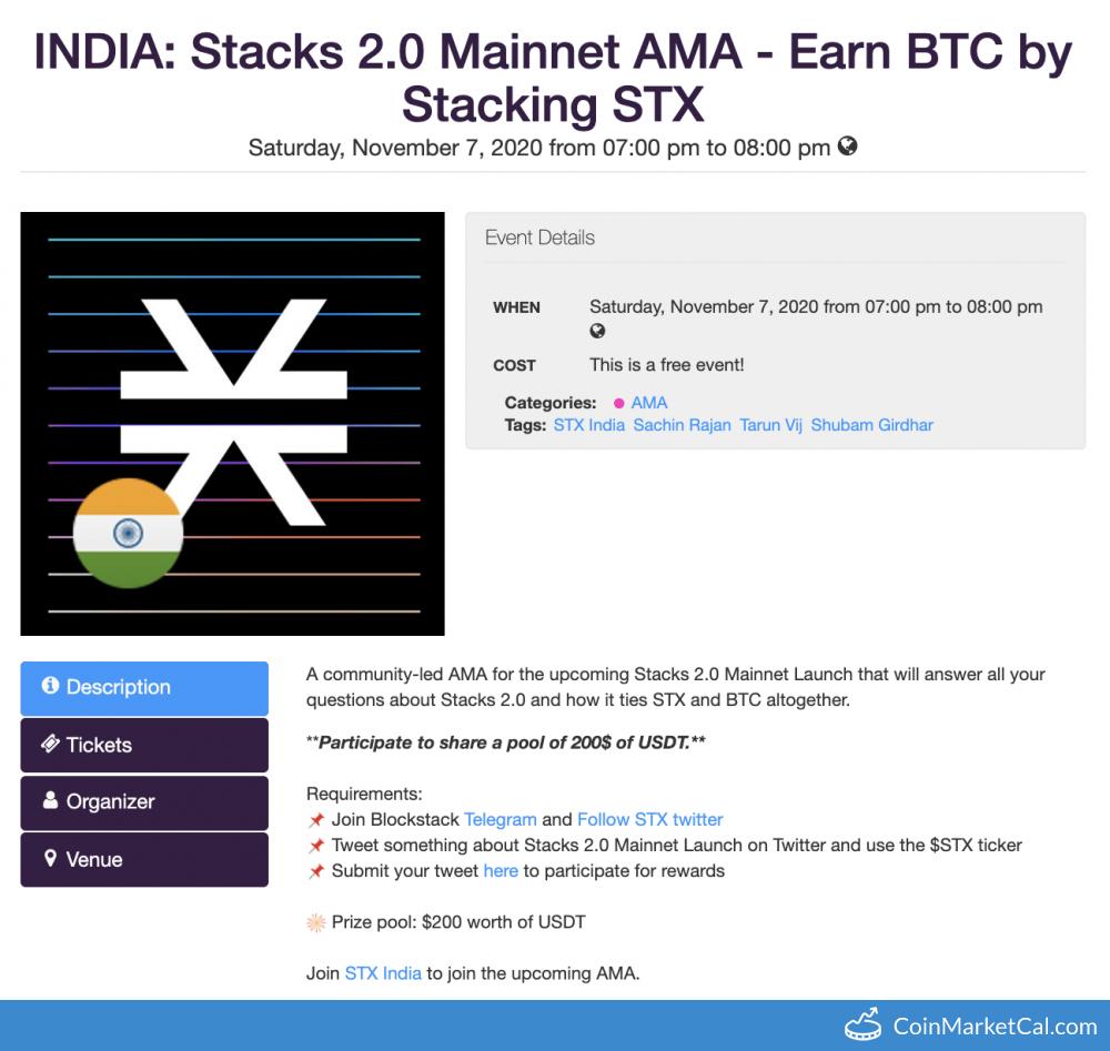 India: Stacks 2.0 Mainnet image